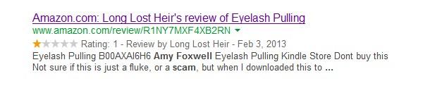 Eyelash Pulling Trichotillomania Book Scam
